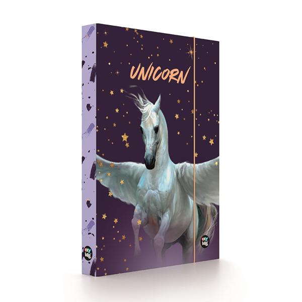 Desky na sešity s boxem A4 Jumbo - Unicorn Pegas