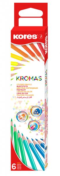 Kores Trojhranné pastelky Kromas - 6ks