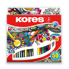 Kores Trojhranné pastelky Kolores Mandalas - 50 barev