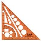 LINEX Multifunkční pravítko trojúhelník 5 v 1 - oranžová