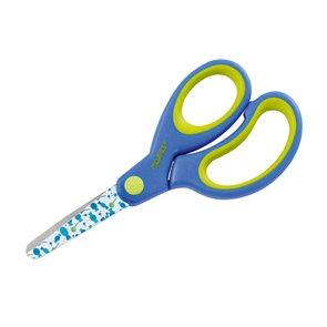 DAHLE Dětské nůžky s kulatou špičkou 13 cm, asymetrické - modré (lízátka)
