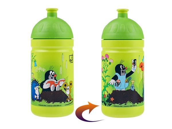 Zdravá láhev 0,5 l - Krtek a kalhotky zelená