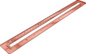 Pravítko Mid transparentní s dvojitým měřítkem 30 cm - mix barev