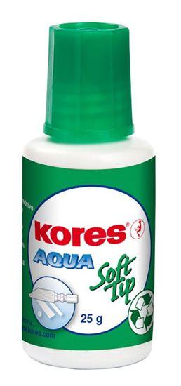 Kores Opravný lak Aqua Soft tip 25g s houbičkou