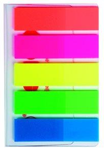 Kores Neonové záložky Index Strips 45 x 12 mm - 5 barev