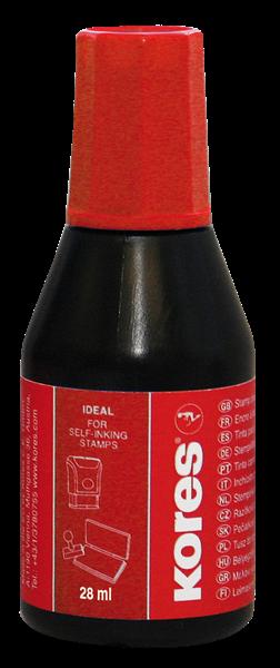 Kores Razítková barva 28 ml - červená