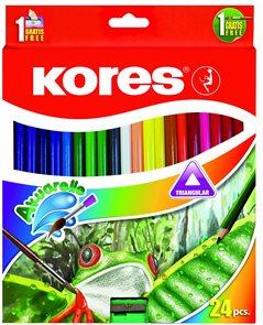 Kores AKUARELLE Akvarelové pastelky - 24 ks
