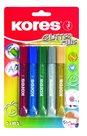 Kores Glitter Glue lepidlo se třpytkami 10,5 ml × 5 barev