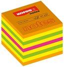 Kores Samolepicí bloček CUBO 50 × 50 mm - neonové barvy