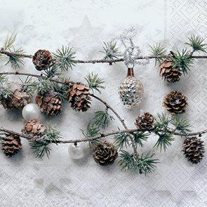 Vánoční ubrousky 33 x 33 cm, 20 ks - Duch lesa