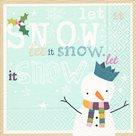 Vánoční ubrousky 33 x 33 cm, 20 ks - Let it snow