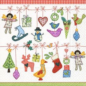 Vánoční ubrousky 33 x 33 cm, 20 ks - Vánoční hračky