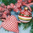 Vánoční ubrousky 33 x 33 cm, 20 ks - Vánoční srdce