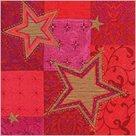 Stil Ubrousky 33 x 33 - červené hvězdy