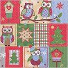 Stil Ubrousky 33 x 33 - Vánoční patchwork Sovy