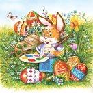 Stil Ubrousky 33 x 33 Velikonoce - Malující zajíček
