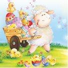 Stil Ubrousky 33 x 33 Velikonoce - Velikonoční ovečka