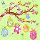 Stil Ubrousky 33 x 33 Velikonoce - Velikonoční vajíčka na větvičce