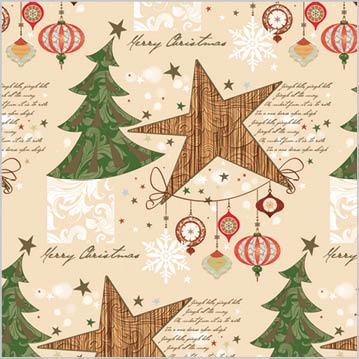 Stil Ubrousky 33 x 33 - Vánoční stromečky a hvězdičky