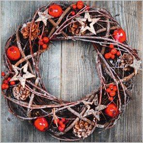 Stil Ubrousky 33 x 33 Vánoce - Vánoční věnec