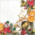 Stil Ubrousky 33 x 33 - Vánoční dekorace s pomeranči