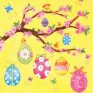 Stil Ubrousky 33 x 33 Velikonoce - Velikonoční vajíčka na větvičce II.