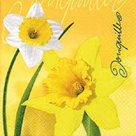 Stil Ubrousky 33 x 33 Velikonoce - Narcis