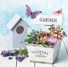 Stil Ubrousky 33 x 33 dekorativní - Garden