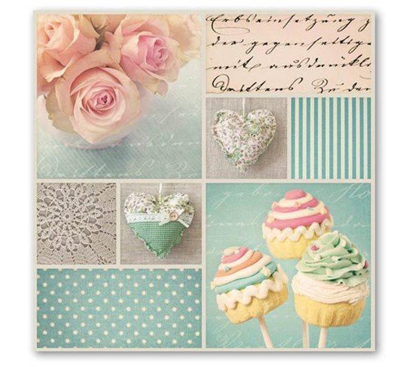 """Stil Ubrousky 33 x 33 dekorativní - """"sweet"""""""