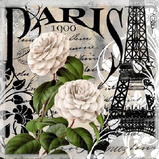 "Stil Ubrousky 33 x 33 dekorativní - Paris ""1900"""