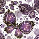 Stil Ubrousky 33 x 33 dekorativní - Motýli - fialová