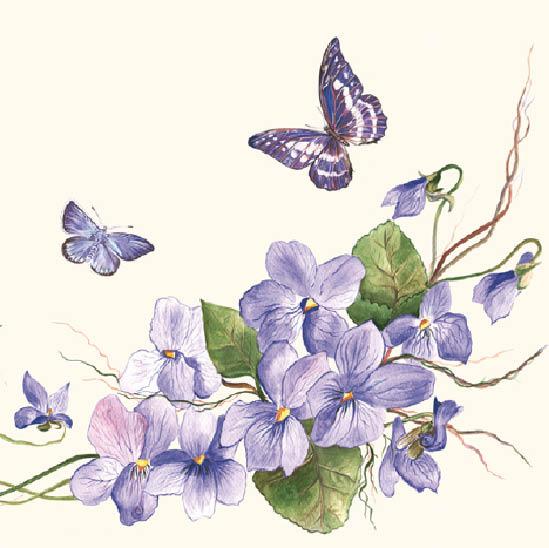 Stil Ubrousky 33 x 33 dekorativní - Fialky