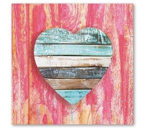 Stil Ubrousky 33 x 33 dekorativní - Srdce