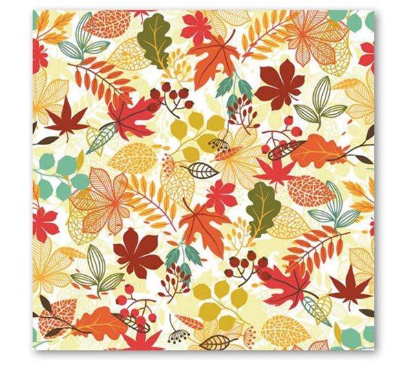Stil Ubrousky 33 x 33 dekorativní - Listy podzim