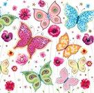 Stil Ubrousky 33 x 33 dekorativní - Motýlci barevní