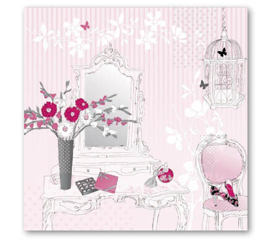 Stil Ubrousky 33 x 33 dekorativní - Růžový pokoj