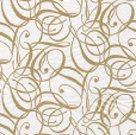 Stil Ubrousky 33 x 33 dekorativní - Ornament zlatý