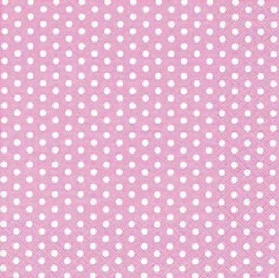 Stil Ubrousky 33 x 33 dekorativní - Puntíky - růžová