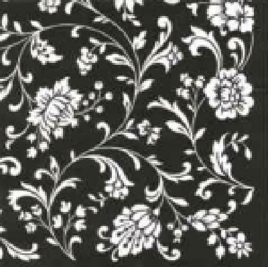 Stil Ubrousky 33 x 33 dekorativní - Kytky černobílé