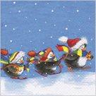 Stil Ubrousky 33 x 33 Vánoce - Tučnáčci