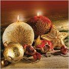 Stil Ubrousky 33 x 33 Vánoce - Červenozlatá dekorace