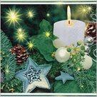Stil Ubrousky 33 x 33 Vánoce - Zelená dekorace