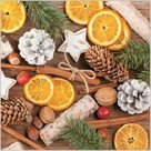 Stil Ubrousky 33 x 33 Vánoce - Přírodní s pomeranči