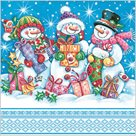 Stil Ubrousky 33 x 33 Vánoce - Sněhuláci s dárky