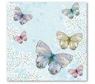 Stil Ubrousky 33 x 33 dekorativní - motýlci - modrá