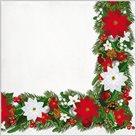 Stil Ubrousky 33 x 33 Vánoce - lem s vánočními hvězdami