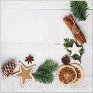Stil Ubrousky 33 x 33 Vánoce - lem s vánoční dekorací