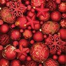 Stil Ubrousky 33 x 33 Vánoce - červené vánoční ozdoby