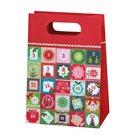 Vánoční dárková taška 19,5 x 28 x 10 cm - Adventní kalendář