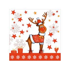 Vánoční ubrousky 25 x 25 cm, 20 ks - Vánoční sob